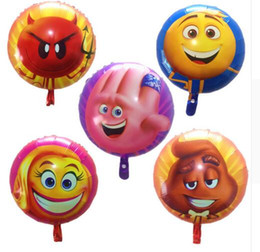Wholesale Inflatables Stars Decorations - Emoji Balloons Star Helium Balloon Inflatable Children Party Toys Happy Birthday Balloons Party Decoration Supplies DHL Free Shipping