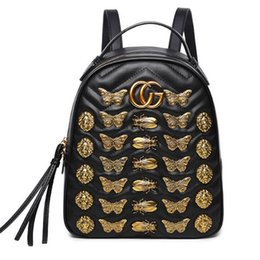 Wholesale Satchel Leather - Marmont backpack women famous brands backpacks leisure school bag fashion leather quilted mochila luxury designer women bags