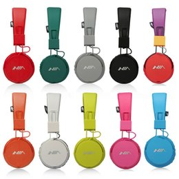 Wholesale Earphones Colour - Original NIA-A1 Earphones Stereo Foldable Headphones with Mic Headsets Best Quality 9 Colours NIA A1 100pcs lot