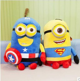 Wholesale Despicable Stuffed - New 45cm Despicable Me Plush Toys Cartoon Cute Despicable Me movie merchandise Stuffed Animals Soft Doll Toys children gift