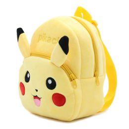 Wholesale Dolls For Children Girls - Kids backpacks poke pikachu backpack for children girl boy schoolbags plush girls boys stuff dolls bag children christmas gifts
