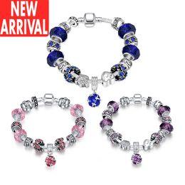 Wholesale Cheap 14k Bracelets - Bracelets for women Crystal bracelets Amethyst charm New Arrival Wholesale Discount Fashion Brands Designer Online Store Cheap Price