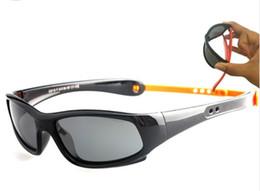 Wholesale Kids Polarized Sunglasses - 8110 Kids sunglasses girls retainer strap holder Children sun glasses boys Polarized Lenses UV400 TR90 FLexible Frame