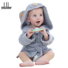 Wholesale Dhgate Kids - dhgate Fashion Designs Hooded Animal Modeling Baby Bathrobe Cartoon Babies Character Kids Bath Robes Infant Beach Towels YE0001
