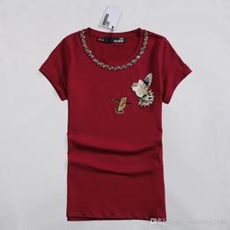 Wholesale Women S Shirt Collar Types - 2017Summer female Bird Embroidered T-shirt O - neck collar shirt from the shoulder sleeve T-shirt, slim type