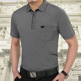 Wholesale Quick Shipping Dress - Free Shipping Short Sleeve T Shirt Cotton Clothing Men T-Shirt With Pocket Casual Dress Factory Wholesale Plus Size