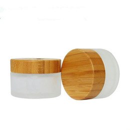 Wholesale wooden packing - New Fashion 30g 50g cream jar with bamboo lid.Cosmetics packing bottles with wooden cover fast shipping F2017508
