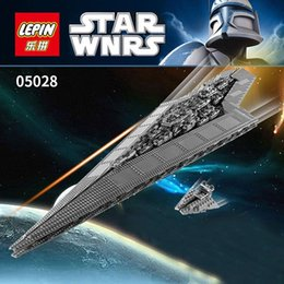 Wholesale Star Wars Building - Free shipping 1 pcs Super big 3208 pcs Lepin Star Wars Super Star Destroyer Executor anime Building block model toys for children Christmas