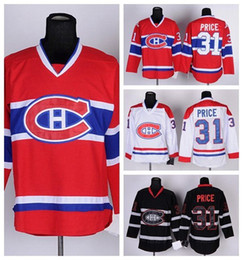 Wholesale mens discount white shirts - Discount 2016 New arrived Montreal Canadiens Mens 31 Carey Price white black red 100% embroidered Ice Hockey Cheap Jerseys Hot sale T-shirt