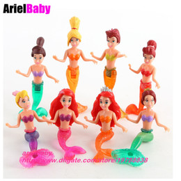 Wholesale Finished House - New 8PCS Princess Story Toys The Little Mermaid Ariel Action Figure Mini Dolls Play house Cake Topper 10cm Girl Gifts