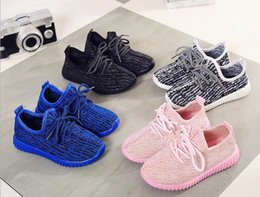 Wholesale Air 21 - Cheap Baby Kids Kanye West 350 Boost Children Athletic Shoes Boys Running Shoes Girls Casual Shoes Baby Training Sneakers Size 21-35