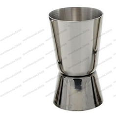 Wholesale Metal Jigger - ree Shipping L 15-30c.c Stainless Steel Cocktail Shaper Double Jigger Measuring Ounce Bar TV Wine Cup MYY