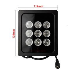Wholesale Infrared Illuminator For Night Vision - 9 Array LED Infrared Night Vision IR Light illuminator Lamp For CCTV Security Camera