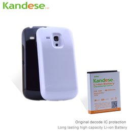 Wholesale Galaxy S3 Mini Covers - sale Kandese Extended Large Capacity 5200mAh Lithium Battery Replacement for phone Samsung Galaxy S3 MINI I8190 with back cover