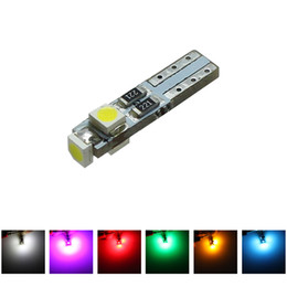 Wholesale t5 dash lights - 50pcs T5 LED Car Auto LED 3 led smd 3528 Wedge Light Bulb Lamp dash board Instrument White Pink Ice Blue Red Yellow Green