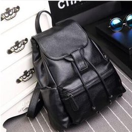 Wholesale Real Teenager - Wholesale- Famous Brand Backpack Women Real Genuine Leather Bag Women Leisure Bag Cow Leather Women Backpack School Bags for Teenagers