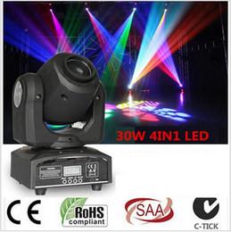 Wholesale Disco Dj Party Laser Dmx - 30w 10w Mini Moving Head Led Stage Disco Dj Dmx Spot Lamp Gobo Strobe Laser Show Party Licht Soundlights Home ColorMusic Lumiere