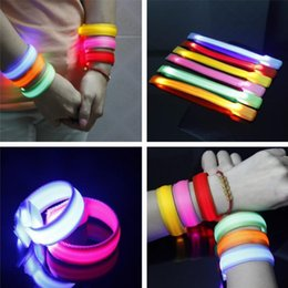 Wholesale Safety Lights Led Armband - Novelty Lighting Nylon Band LED Flashing Arm Band Wrist Strap Armband light for Outdoor Sports Safety 22cm Party Club Cheer Night Light