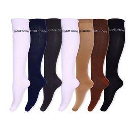 Wholesale Men Sport Socks Set - 7pcs=1 set Compression Socks Sport Socks For Unisex By Footloose Knee High Anti-Swelling Varicose Veins Graduated Compression Nursing socks