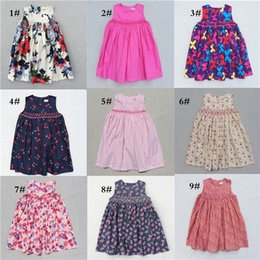 Wholesale Cute Casual Dresses For Kids - Girls Flower Dresses 2017 Summer Lovely Dresses Cute Baby Girls Sunydress Casual Party Dresses Tutu Princess For 3-7 Years Kids Clothes