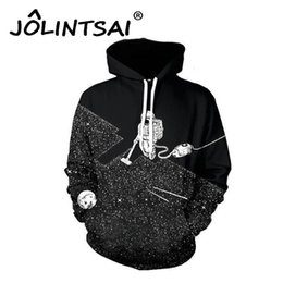 Wholesale Mens Hoodies 6xl - Wholesale- Spring Autumn European Fashion Tide Brand Hoodies Mens Sweatshirts 6XL 3D Print Astronaut Pullovers with Pockets Tracksuits