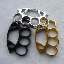 Wholesale Black Fats - black Gold and silver Powerful FAT BOY RENEGADE THICK BLACK BRASS KNUCKLE DUSTERS Self Defense Personal Security BY DHL