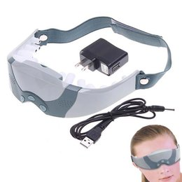 Wholesale Massaging Electric Eye - Electric Wireless Eye Massager Eye Vision Wrinkle Care Massager Vibrator Mask Migraine Forehead Massage Relaxation OOA2135