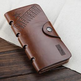 Wholesale Mens Passport Holder - Wholesale- 2017 NEW fashion Mens genuine cow Leather long Wallet Pockets rfid Card Clutch Cente Bifold Purse , wholesale WBL9