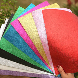 Wholesale Paper Folding Crafts - 10 colors Glitters Foam Paper EVA Sponge for Background Fold scrapbooking Paper Craft Punch Stamping DIY Gift Decor 20*30cm