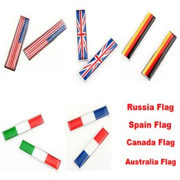 Wholesale 3d Stickers Italy - Car Auto 3D Sticker Russia US UK Italy France Canada Spain German Australia Flag Decoration Sticker Car Styling