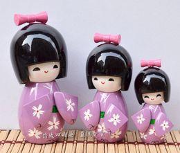 Wholesale Kimono Decoration - Cute Japanese kimono doll Home Furnishing decoration wooden puppet doll ornaments boutique wedding gift