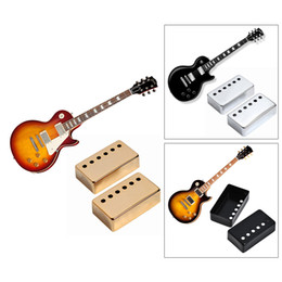Wholesale Pickup Covers - 2pcs Chrome Metal Humbucker Pickup Cover 50 52mm For LP Style Electric Guitar Golden Silver Black Gold Free Shipping