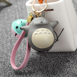 Wholesale Wholesale Cute Coin Purses - Extremely Cute My Neighbor Totoro Chinchillidae Keychain Pendant Fit For Bag Charms Purse Accessory Miyazaki Hayao Comic Fans