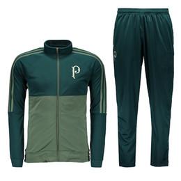 Wholesale Man Jacket Green - 2017 Palmeiras tracksuit green Palmeiras sweater suit long pants trainning set Uniform jacket football shirt