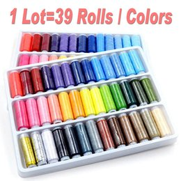 Wholesale Wholesale Sewing Machine Thread - 1Lot=39 Rolls Colors 200 yard roll, Mixed Color Sewing Thread,Sewing Supplies For Hand Machine, Thread to Sew Thread Spools for Hand Sewing