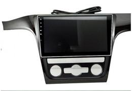 Wholesale Navi Radio Passat - 10.2 inch Android 6.0 Car Dvd Gps Navi Audio for VOLKSWAGEN PASSAT 2013 1024*600 OBD1GB Wifi 3G support Original Steering wheel