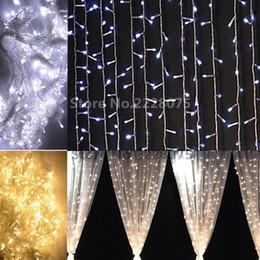 Wholesale Christmas Decorations Buy - Wholesale-192leds US110v EU220v Christmas Garlands LED String Lights 144leds Fairy Xmas Party Garden Wedding Decoration buy Curtain Light