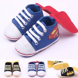 Wholesale Plastic Baby Walker - Fashion Baby Sport Shoes Superman Toddler Antislip Shoes Sneakers Baby Infants Cotton Bebe First Walkers