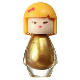 7 мл серебро золото милый ребенок кукла акриловые Неон ногтей польский дизайн Моды маникюр Яркий декор блеск лак красоты FB03 от