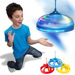 Wholesale Toy Ufo Flying Ships - Kids Toys Sensor Flying Saucer UFO Hand Induced Hovering Floating Flight Hand Movements Toy UFO free shipping