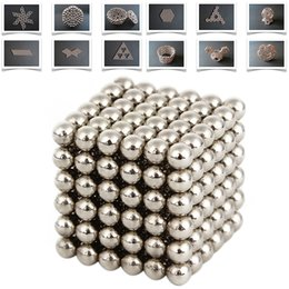 Wholesale Wholesale Neodymium Magnet Cube - Wholesale-Hot 216Pcs 3mm Neodymium Magnetic Balls Spheres Beads Magic Cube Magnets Puzzle Kids Birthday Party Present Gifts Children Game