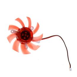 Ventilador de tarjeta de vídeo de 75 mm online-Al por mayor-Ventilador de computadora Ventilador Colorido 75MM 12V 0.18A Reemplazo Para 9800GT9600GT Tarjeta de Video Ventiladores Color Rojo P0.16