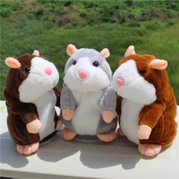 Wholesale Hamster Wholesale - 3PCS Hot Cute Speak Talking Sound Record Hamster Educational Toy Talking Hamster Mouse Pet Plush Toy Birthday Gift for Children