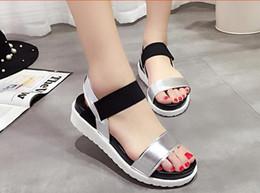 Wholesale Ladies Summer Footwear Sandals - Summer Sandals For Women New Shoes Peep-toe Sandalias Flat Shoes Roman Sandals Shoes Woman Mujer Ladies Flip Flops Footwear