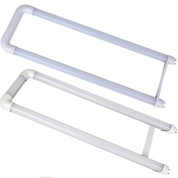 Wholesale Led U Shape Tube Light - led tubes light 2ft U shaped T8 LED Tube 18W 20W 22W SMD2835 chip Light Lamp Bulb 2ft*2 AC85-265V UL DLC CE ROHS
