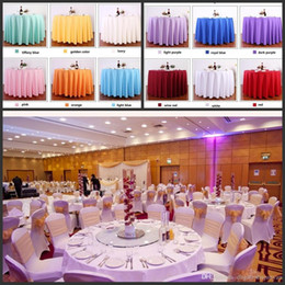 Wholesale Wholesale Satin Cloth - Table cloth Table Cover round for Banquet Wedding Party Decoration Tables Satin Fabric Table Clothing Wedding Tablecloth Home Textile
