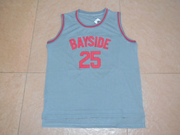 Wholesale Zack Morris - 25 Zack Morris movie BAYSIDE throwbacks jerseys college Jersey 100% Stitched