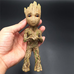 Wholesale Anime Marvel - Guardians of the Galaxy 17cm Resin Marvel Action Figures Tree Man Baby Groot Resin Model Anime Toys Promotional