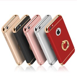 Wholesale Iphone Cas Wholesaler - 3 in 1Hybrid electroplate eing case for iPhone 6s 7 7 plus kickstand cover frosted armor hard PC cas froSamsung s7 s7 edge
