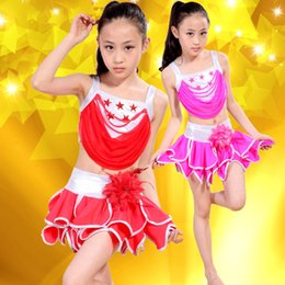Wholesale Latin Dance Performance Clothes - New Hot Girls sequins Latin Dance Dresses Performance Dresses Princess Dresses Beautiful Children's Clothing Free Shopping